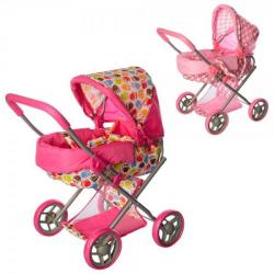 Коляска для куклы металлическая, корзина, 9369-82100