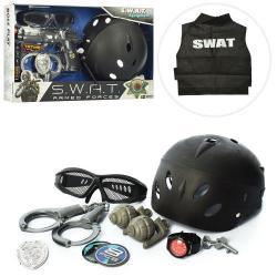 Набор полицейского (каска, очки, наручники, гранаты) 33650-33770