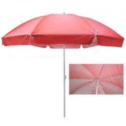 Зонт пляжный Stenson 2,5м карбоновые спицы, с серебристым покрытием, MH-3322-R