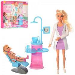 Кукла 29см врач (стоматолог) шарнирная, дочь, мебель, DEFA 8408-BF