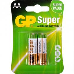 Батарейка GP 15A-U2 щелочная LR6, AA по 2 шт. Alkaline Super