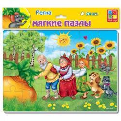 Мягкие пазлы Сказки, Репка, VT1102-21