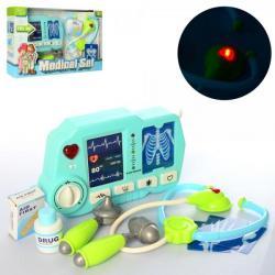 Набор врач - медицинские инструменты, рентген аппарат (звук, свет, на батарейках), D1511