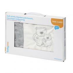 Мягкое одеяло minky patchwork 1411/02