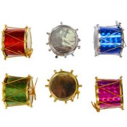 Украшение Барабан цветной 4 см 18F065