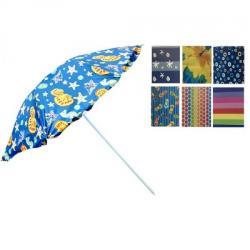 Зонт пляжный Stenson d2.4м с серебристым покрытием, MH-0041