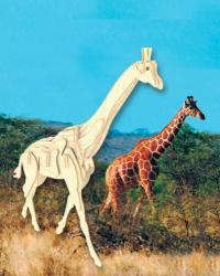 Деревянная сборная модель Жирафа