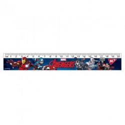 Линейка YES Marvel 20см, 370562