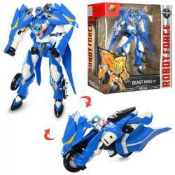 Трансформер металлический робот + мотоцикл 24см, оружие, J8038B