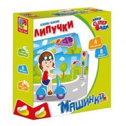 Игра настольная Vladi Toys Машинки с липучками на украинском языке, VT1302-21
