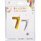 Надувные шарики 40см золото-серебро 35-7 №7