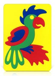 Мозаика-вкладыш мягкая Попугай