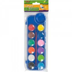 Краски акварельные ZIBI 12 цветов с кистью ZB.6559-02