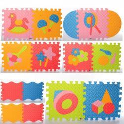 Коврик Мозаика напольное покрытие (1 текстура, пазлы, игрушки, 9 деталей, 31-31см.), M 6099 EVA