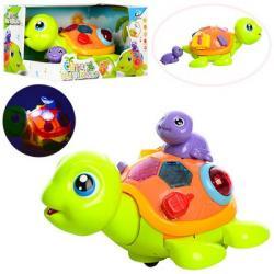 Черепаха 21см (черепашка 7 см, ездит, звук, свет, на батарейках), 2088