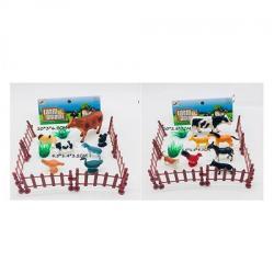 Животные домашние 7 шт. 5-10 см., Забор, LT02-7A-B