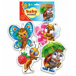 Бэби пазлы Vladi Toys Забавные насекомые, VT1106-06