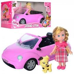 Кукла 15см, машина 29см, животное 7 см, 63016B