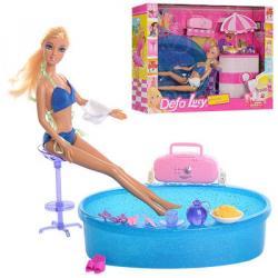 Кукла 29см, бассейн, аксессуары, DEFA 8208