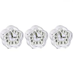 Настольные часы-будильник Ромашка с подсветкой 904