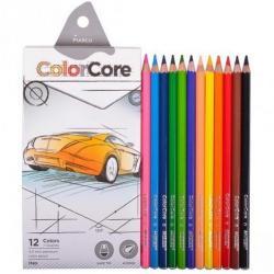 Карандаши цветные Marco ColorCore 12 цветов + 1 графитный HB