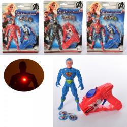 Набор с фигурками (супергерой, оружие-стреляет дисками) HY8800-13