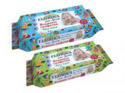 """Влажные салфетки 70 штук для детей """"Florika"""""""