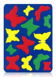 Мозаика-вкладыш мягкая Бабочки