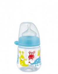 Бутылка с широкой горловиной, соска с широким горлышком 150 мл (мальчик) М 35055