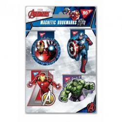 Набор закладок для книг магнитных YES Marvel 4шт., 707402