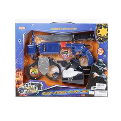 Набор полицейского (пистолет, кобура, наручники, нож, рация) 8630