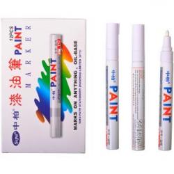 Маркер масляный PAINT 3мм белый SР-110