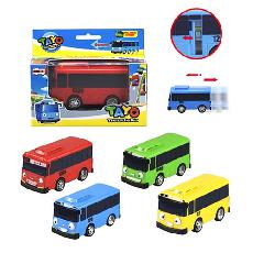 Автобус 4 цвета, 9см,инерционный в коробке 1001