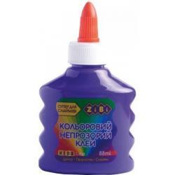 Клей ZiBi фиолетовый непрозрачный на PVA-основе 88 мл, ZB.6113-07
