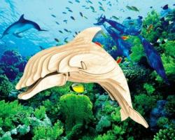 Деревянная сборная модель Дельфин