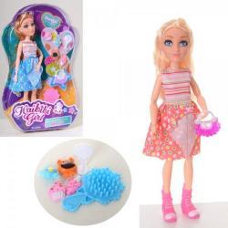 Кукла 27см. шарнирная (расческа, сумочка, фигурки), BLD212