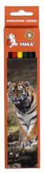 Карандаши цветные Умка Тигр 6 цветов