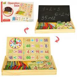 Набор первоклассника (счетные палочки, цифры, доска для рисования, в коробке MD 1314