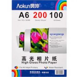 Фотобумага А6 100 л. 200г / м глянцевая FBA6200 / 100