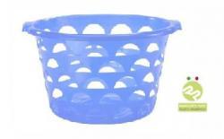 Корзина Cookie для белья круглый 23л, голубой