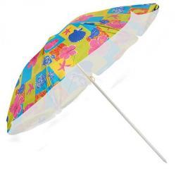 Зонт пляжный Stenson d2.0м с серебристым покрытием, MH-0039