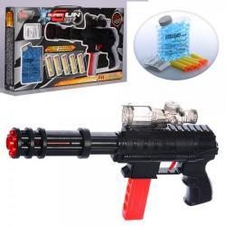 Автомат 32см (водяные пули, мягкие пули-присоски 5шт), XH085
