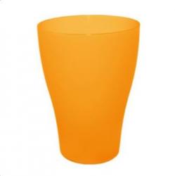 Стакан 0,25л оранжевый прозрачный 07593
