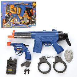 Набор полицейского (автомат, пистолет, наручники) 8626-8627