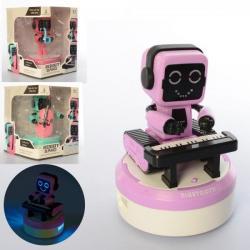 Робот 17см (подвижный, Bluetooth, звук, свет, на батарейках), 610-1