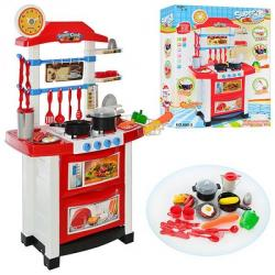 Кухня плита 87-58-34 см (посуда, продукты, звук, свет, бат.), 889-3