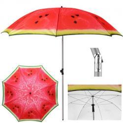 Зонт пляжный Stenson Арбуз d2м с наклоном, MH-3371-2