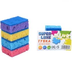 Губка для мытья посуды XL Пино эффект Super Lux 5 штук