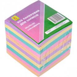 Бумага для заметок Коленкор не клееная 90х90мм 900 листов разноцветная