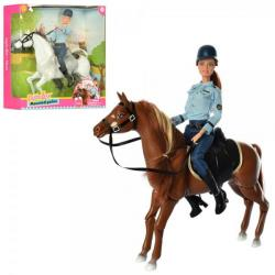 Кукла 29см шарнирная, конь 30см, DEFA 8420